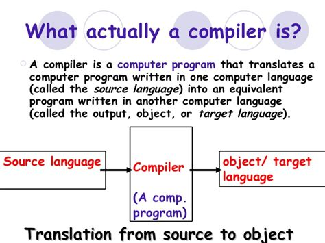 how is a how a compiler works