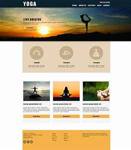 Yoga Website Design Templates Examples