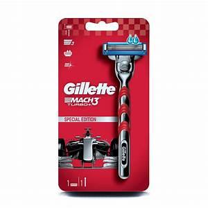 Buy Gillette Mach 3 Turbo Manual Shaving Razor Online At