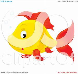 Clipart Happy Orange And Red Fish - Royalty Free ...