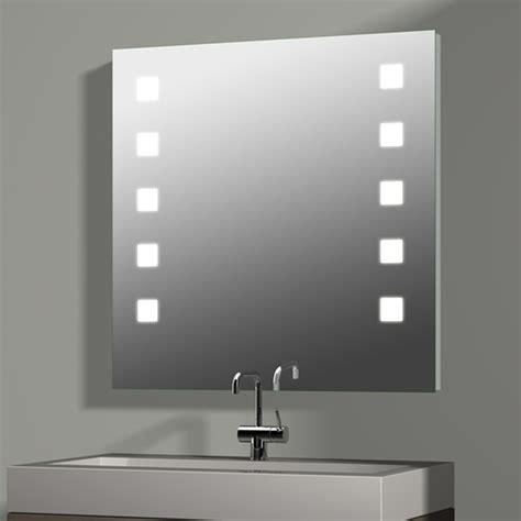 spiegel mit integrierter beleuchtung treos serie 605 spiegel mit integrierter beleuchtung 80x80cm