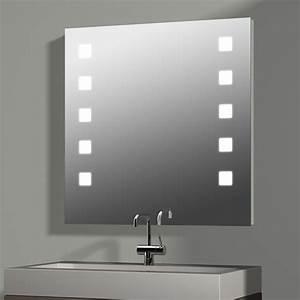 Spiegel Mit Integrierter Beleuchtung : treos serie 605 spiegel mit integrierter beleuchtung 80x80cm ~ Markanthonyermac.com Haus und Dekorationen