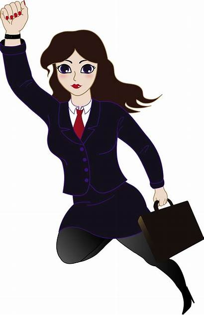Clipart Clip Woman Business Super Superwoman Clipartion