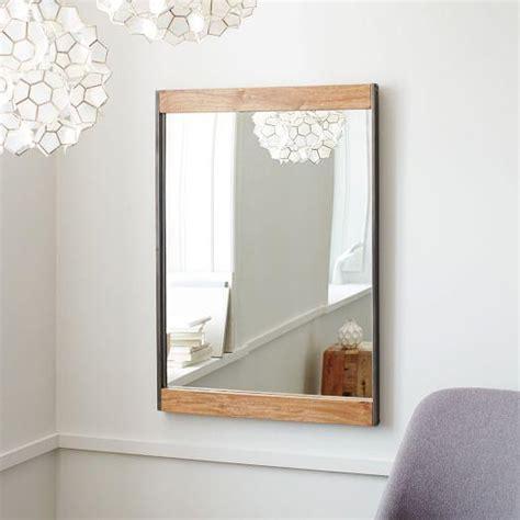 metal  wood natural wall mirror