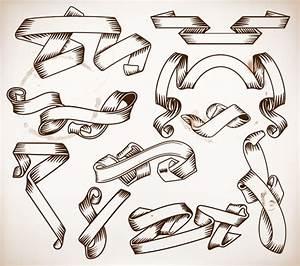 Ribbon Art Drawings