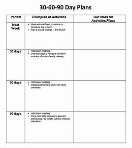 30 60 90 day plan template 8 free download documents in pdf With first 90 day plan template