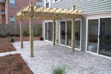 concrete pergola sted concrete patio with pergola outside spaces pinterest