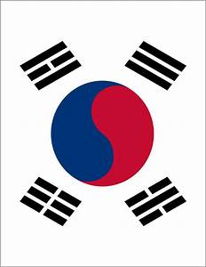 Gallery For > South Korean Flag Clipart