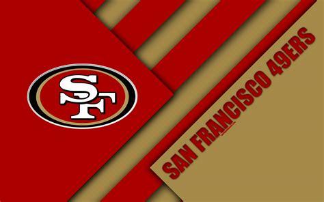 Download wallpapers San Francisco 49ers, NFC West, 4K ...
