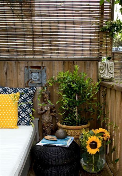 feng shui balkon bamboo blinds balcony design ideas for feng shui style