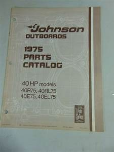 1975 Johnson Parts Catalog Manual 40 Hp 40r75 40e75 40rl75