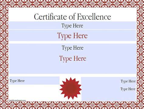printable sample certificate templates sample templates
