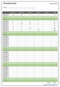 Arbeitsstunden Pro Monat Berechnen : die excel oder open office vorlage stundenzettel dient zur einfachen und bersichtlichen ~ Themetempest.com Abrechnung