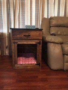 1000 ideas about dog crate table on pinterest dog With dog crate end table with drawer