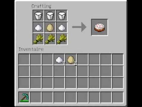 comment faire une cuisine dans minecraft comment faire un gateau minecraft