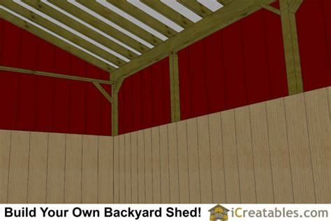 stall horse barn plans  lean  icreatables sheds