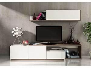 Meuble Tv Suspendu Conforama : meuble tv 240 cm finition m lamin otawa coloris pin fonc ~ Dailycaller-alerts.com Idées de Décoration