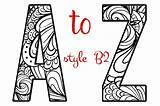 Alphabet Letters Coloring Letter Pages B2 Creative Lettering Artistic Mandala Objects Printable Graphic Creativemarket Graphics Sheets A2lc Transparent Market Designed sketch template