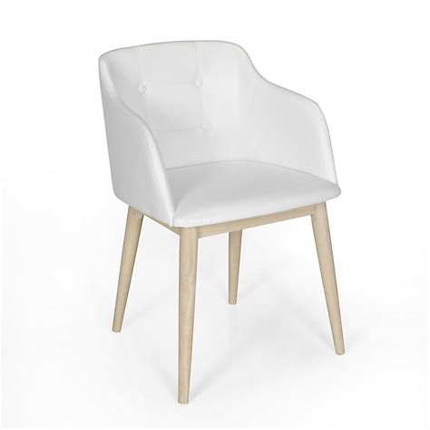 chaise blanche simili cuir chaise de séjour capitonnée en simili cuir blanc cork