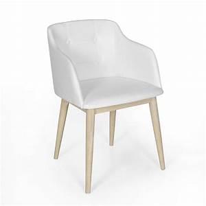 Chaise De Sejour : chaise de s jour capitonn e en simili cuir blanc cork consoles tables chaises chaises ~ Teatrodelosmanantiales.com Idées de Décoration