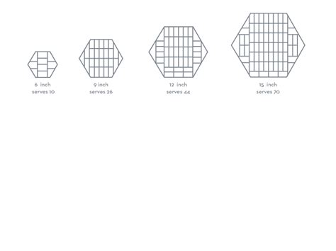 hexagon cakes cutting guide cakes cake servings cake