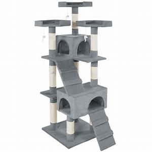Arbre A Chaton : arbre chat 170 cm barney gris griffoir grattoir tronc ~ Premium-room.com Idées de Décoration