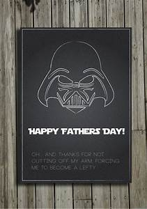 """Items similar to Printable Star Wars """"Happy Father's Day ..."""
