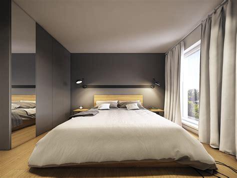 minimalist  simple bedroom design  gray shades