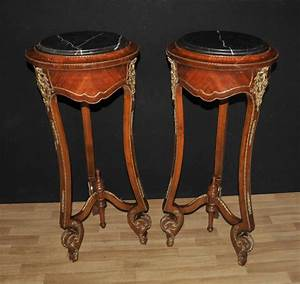 Pair, French, Empire, Tall, Side, Table, Pedestal, Stands