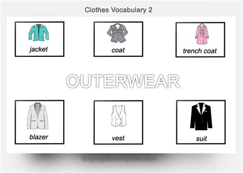 English Clothes Vocabulary Flashcards  Learn English,english,vocabulary,flashcards,clothes,wardrobe