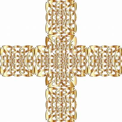 Knot Clipart Celtic Cross Transparent Golden Openclipart