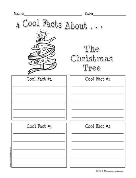 4 cool facts about the christmas tree graphic organizer