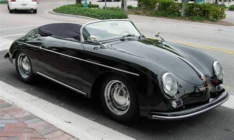 porsche speedster replica replica black 1956 porsche 356 speedster aucton results