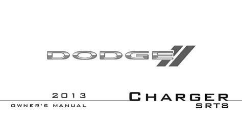 dodge charger srt owners manual  give