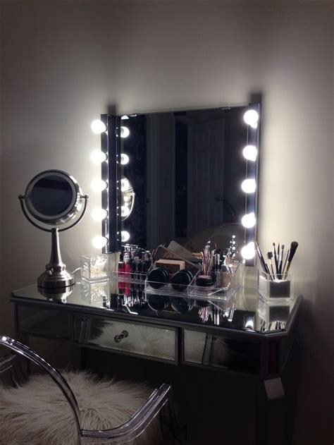 makeup vanity with lights ikea diy ikea vanity home candy pinterest