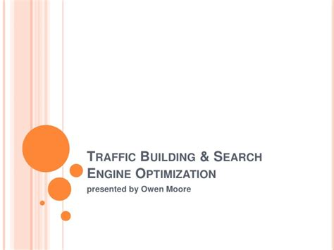 Search Engine Optimization Traffic by Traffic Building Search Engine Optimization