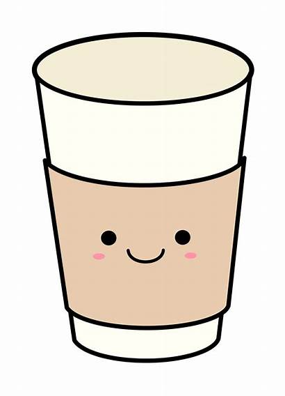 Cup Coffee Clipart Paper Clip Cartoon Svg