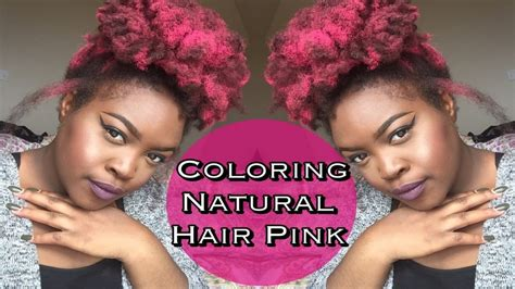 color natural hair pink  dye jerome russel