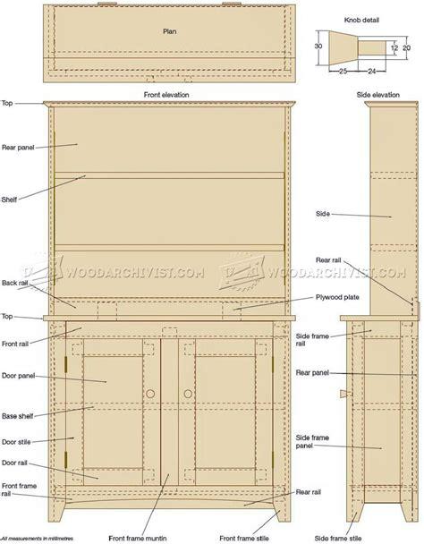 shaker bookcase plans woodarchivist