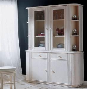 vitrine vaisselier en rotin brin d39ouest With deco cuisine pour meuble vitrine