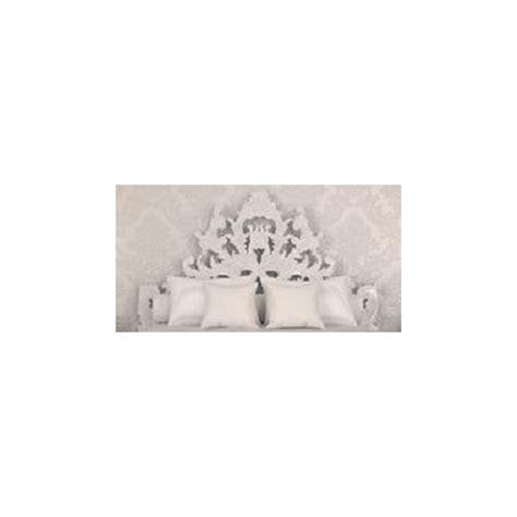 lit baroque  tete de lit blanche de luxe capitonnee