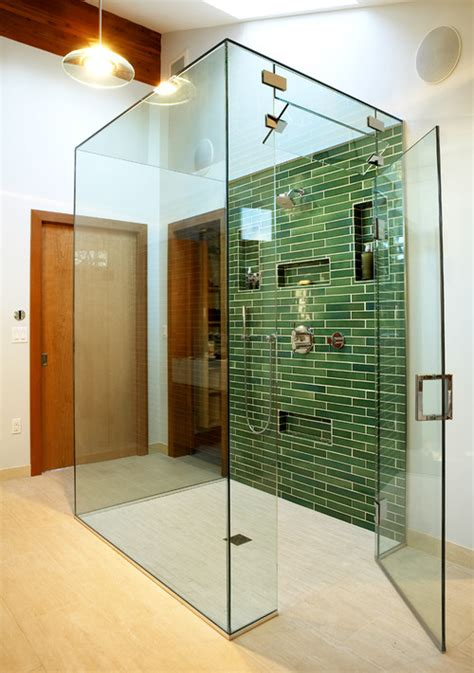 glass ceiling   steam shower