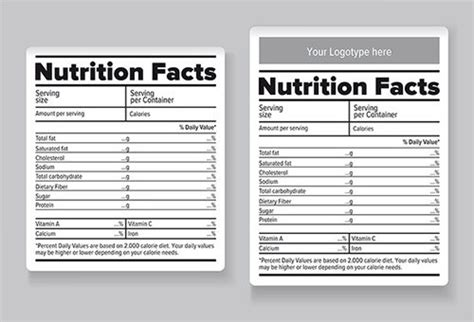 blank nutrition label template word 20 food label templates free psd eps ai illustrator format regarding nutrition facts label