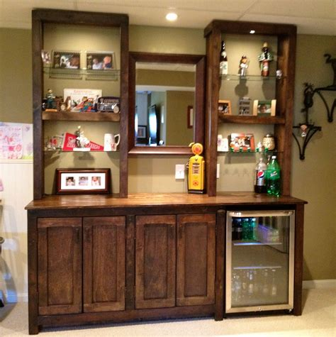 Pretty Bar Shelves For Home On Basement Bar With Cabinets