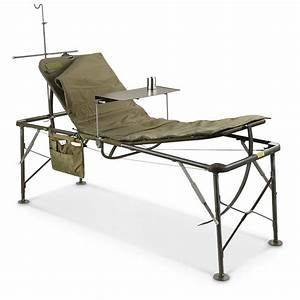 U S  Military Surplus Foldable Field Hospital Bed  Cot  New