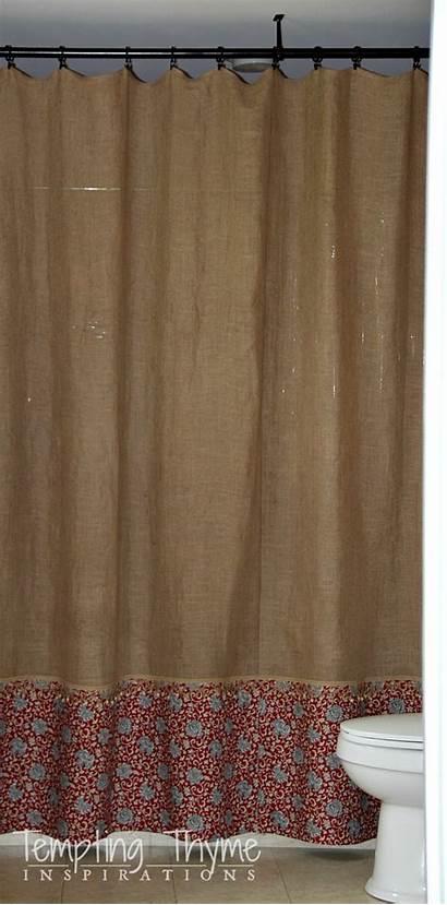 Burlap Curtain Shower Sew Curtains Easy Clear