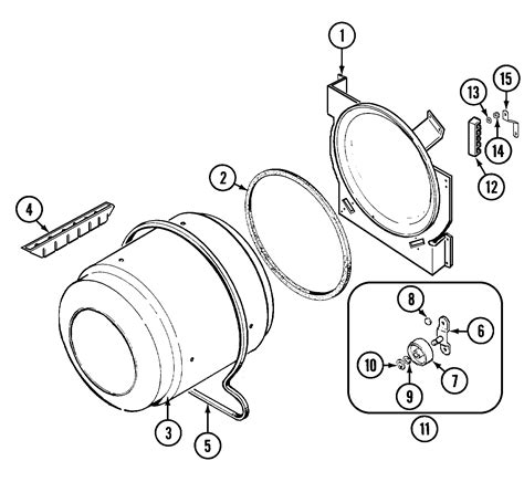 tumbler diagram parts list for pyet244ayw maytag parts dryer parts searspartsdirect
