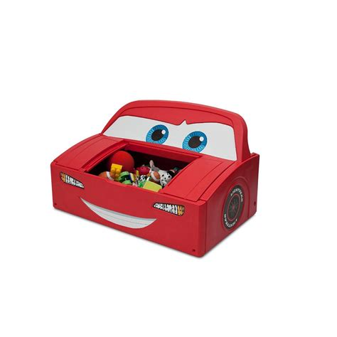 lightning mcqueen bed toddler to twin car with toy box and