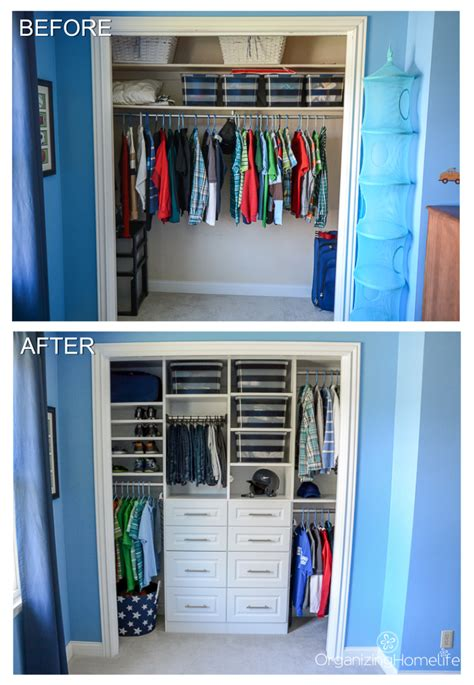 Small Bedroom Closet Organization Ideas by Tween Boy S Room Organized Closet Reveal Organization