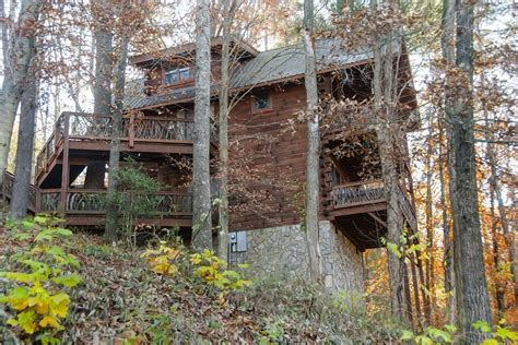 bryson city cabin rentals hill top log cabin rental overlooking bryson city nc